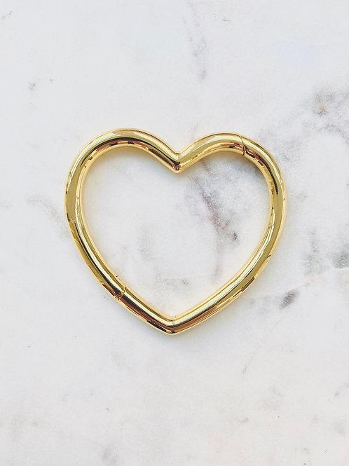 jonc coeur gold