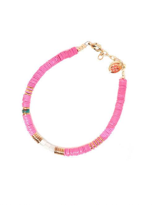 bracelet surfer small pink pearl karma