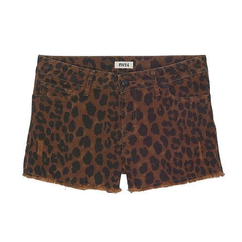 Short léopard Five jeans