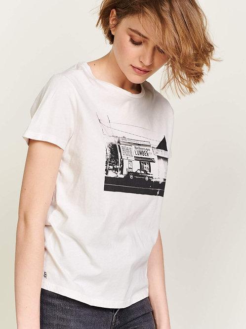 t-shirt coton print vintage Bellerose