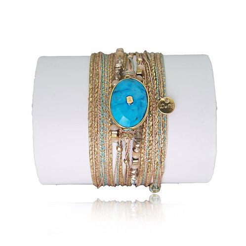 bracelet pierre turquoise Loetma