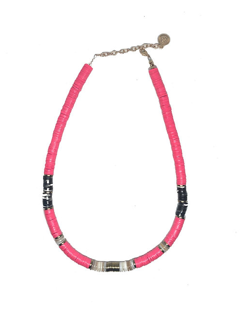 collier surfeur fluo rose pearl karma