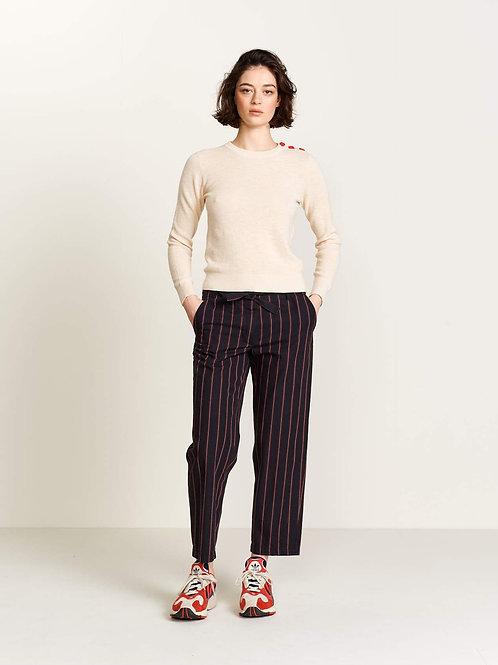 pantalon 7/8ème rayé Bellerose