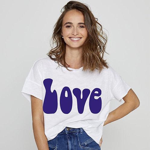 T-shirt blanc love Five jeans