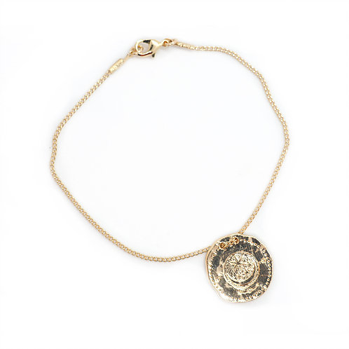 bracelet médaille midnight gang pearl karma