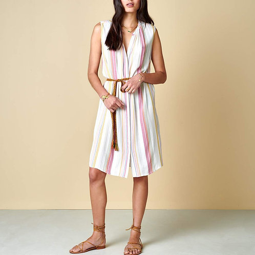 robe rayures pastel bellerose