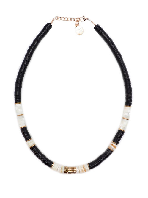 collier surfer black nacre pearl karma