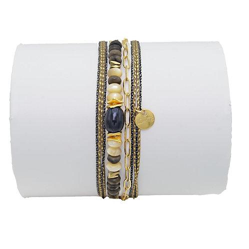 bracelet labradorite et nacre Loetma