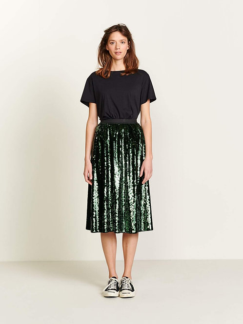 jupe sequins green Bellerose