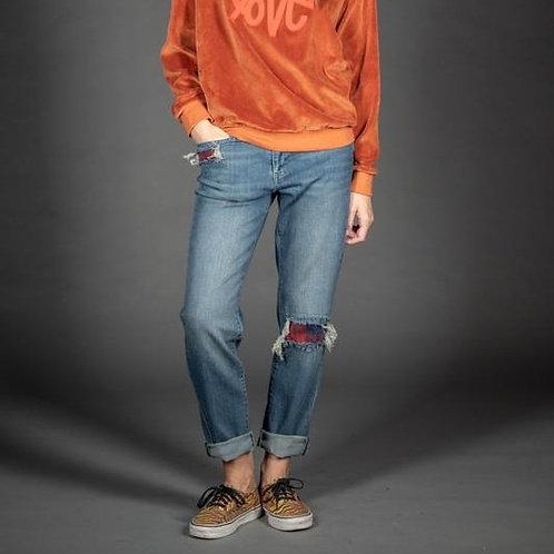 jeans boyfit tartan five