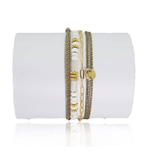 bracelet jaspe blanche Loetma