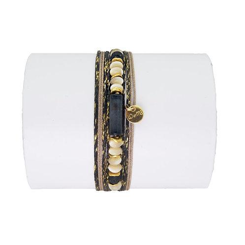 bracelet pyrite noir Loetma