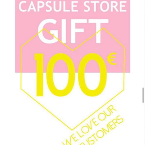 carte cadeau 100€ capsule store