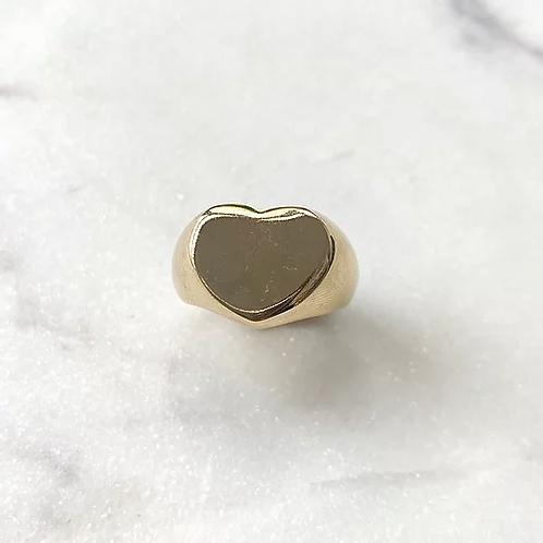 bague heart gold Pearl karma