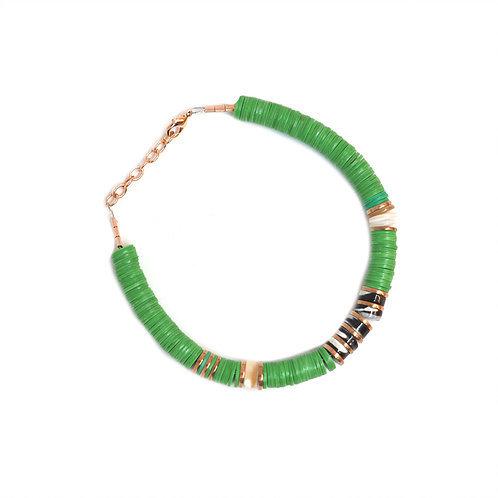 bracelet surfer green pearl karma