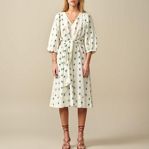 robe motif ikat bellerose