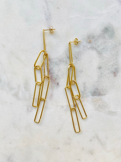 boucles maillon gold