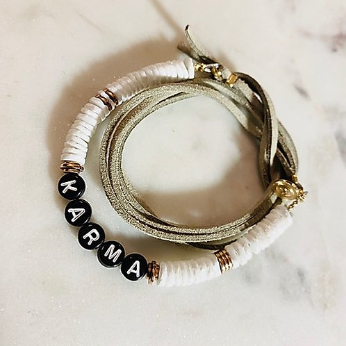 bracelet poignet / cheville Pearl Karma