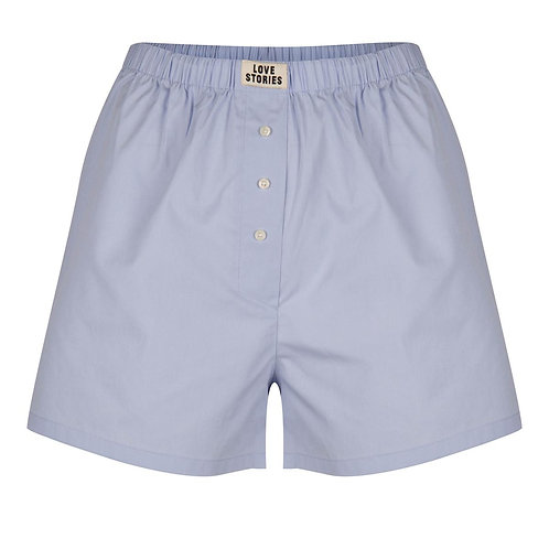 Short pyjama bleu Love Stories