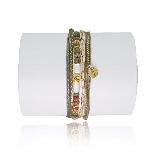 bracelet jaspe vert Loetma