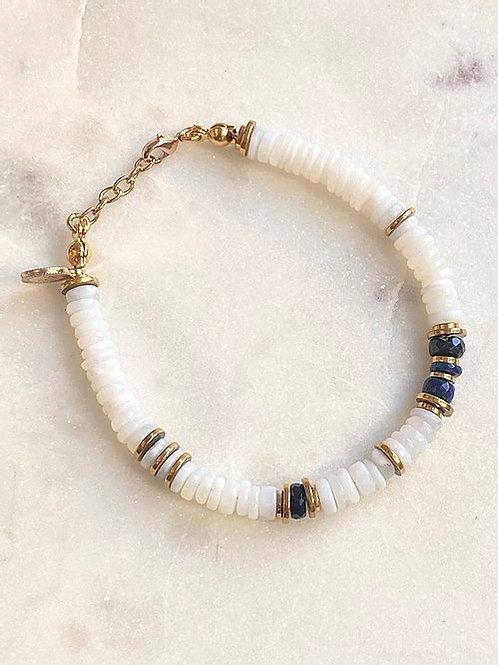 Bracelet white opale Pearl Karma