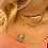 Thumbnail: collier chaine turtle chrysoprase Pearl karma