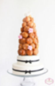 wedding cakes sydney, croquembouche wedding cake, pate a choux, pastry cream, choux pastry, french wedding cake, sydney, the dainty baker