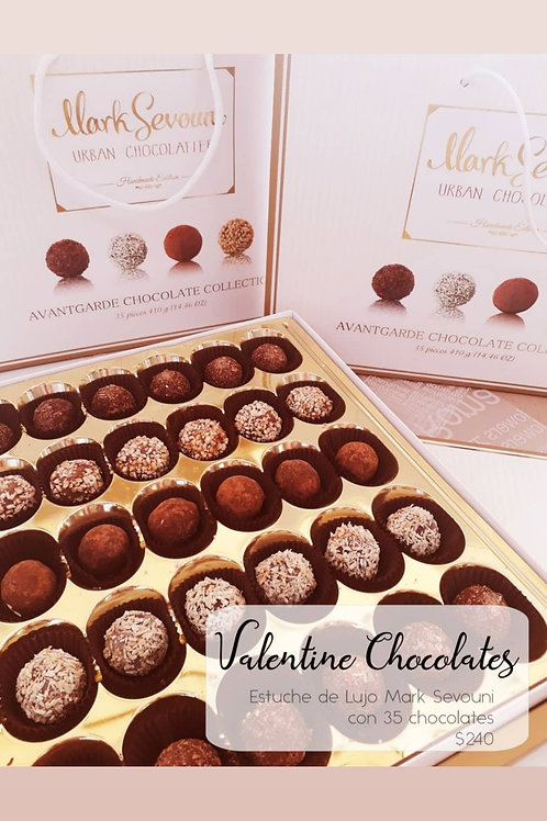 Valentine Chocolates Estuche de lujo Mark Sevouni 35 chocolates