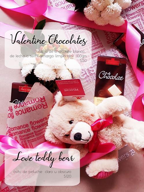 Valentine Chocolates Tableta chocolate blanco, importación 100gr