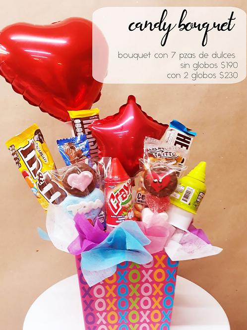 Candy Bouquet 7 piezas de dulces, sin globo