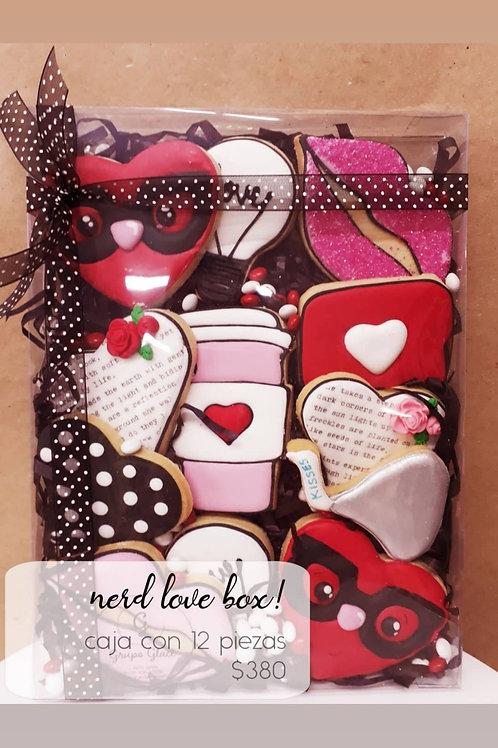 Red Love Box Cookies 12 galletas decoradas