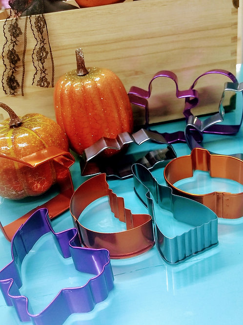 Cortadores Metal Halloween 9pzas