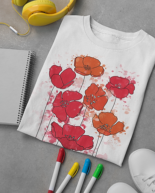 graphic floral t-shirt