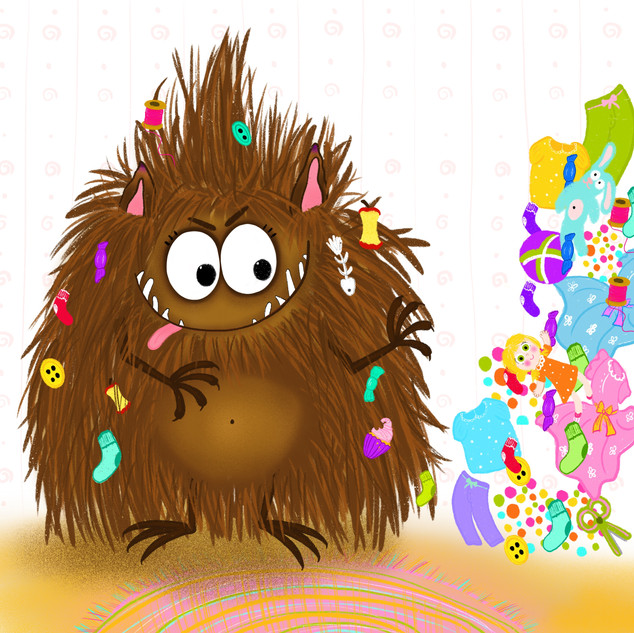 Illustartion for the children's book about the Garbage Monster