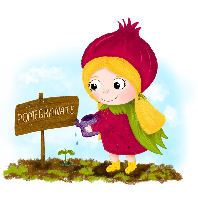 Pomegranate girl