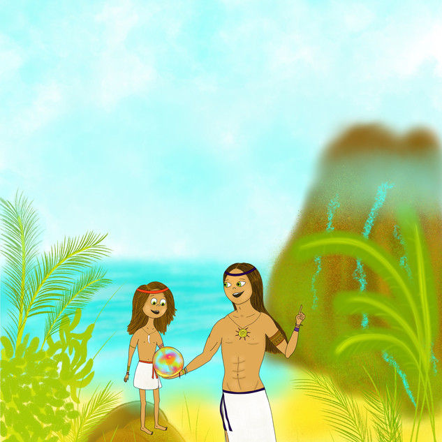 Illustration for the children's book about the far islands