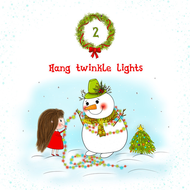Hang twinkle lights