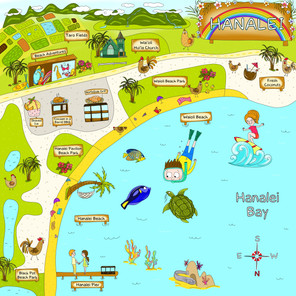 Hanalei Map