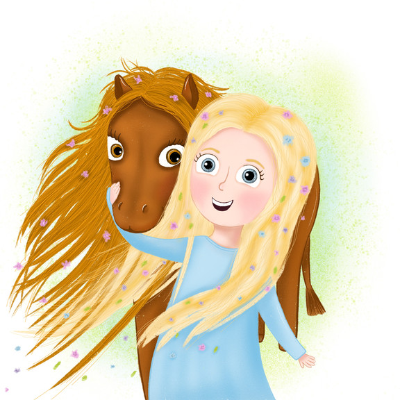 A girl with a horse