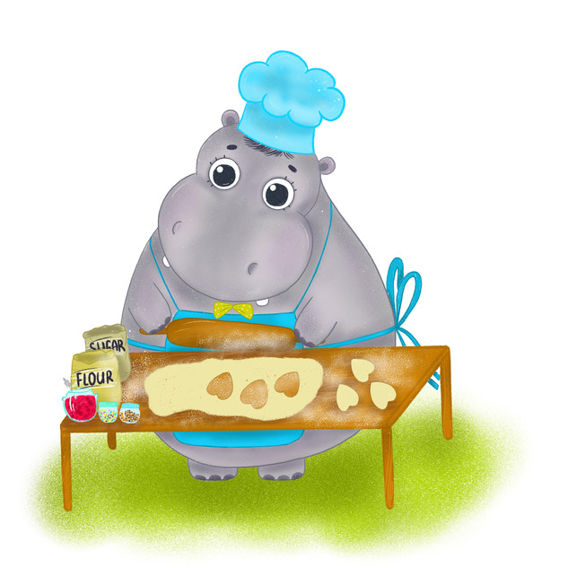 Hippo and cookies