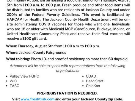 Food Drive Event Informationation - 8/4/2021