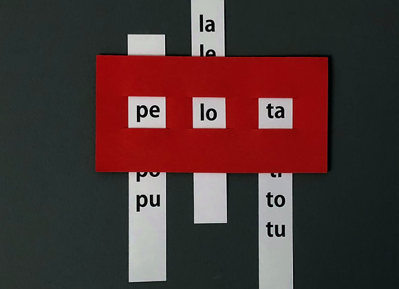 Ventana sílabas directas minúscula NO TERMOLAMINADA