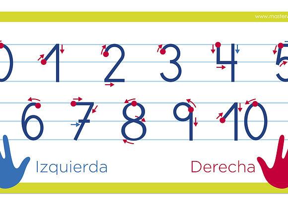 Sticker números caligráficos