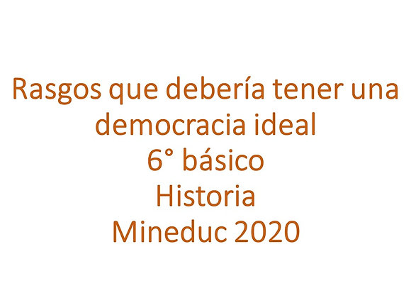 Rasgos que debería tener una democracia ideal