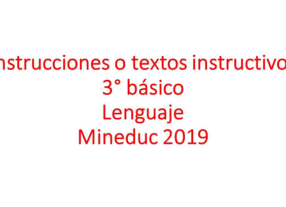 Instrucciones o textos instructivos