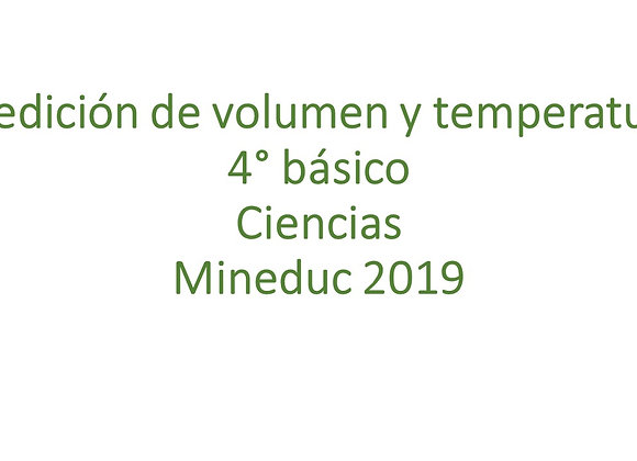 Medición de volumen y temperatura
