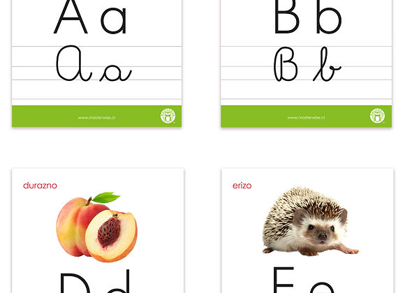 Láminas abecedario lectura