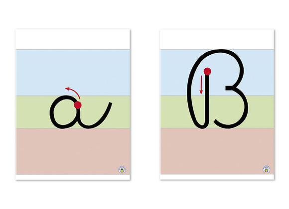 Láminas abecedario escritura