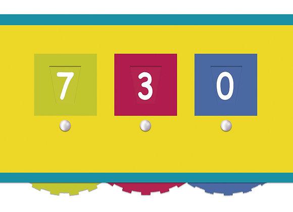 Ficha dictado numérico