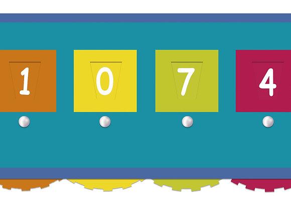 Ficha dictado numérico 6 digitos
